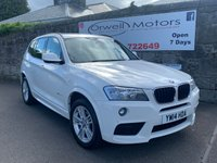 USED 2014 14 BMW X3 2.0 XDRIVE20D M SPORT 5d AUTO 181 BHP FINANCE AVAILABLE+FULL BMW SERVICE HISTORY+2 OWNERS FROM NEW+FULL BLACK LEATHER
