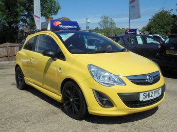 """2012 VAUXHALL CORSA 1.2 LIMITED EDITION 3d 83 BHP * 17"""" ALLOYS * STYLING PACK * STUNNING IN YELLOW * £4450.00"""