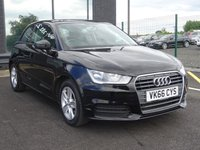 USED 2016 66 AUDI A1 1.0 TFSI SE 3d 93 BHP £0 ROAD TAX | BT AUDIO | DAB RADIO
