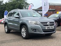 USED 2010 10 VOLKSWAGEN TIGUAN 2.0 SE TDI 4MOTION 5d AUTO 138 BHP FULL LEATHER +  HEATED SEATS +  PRIVACY GLASS +   BLUETOOTH +  DAB RADIO +  FRONT AND REAR PARKING AID