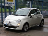 2012 FIAT 500 1.2 LOUNGE 3d Pan roof Air con Bluetooth £4500.00