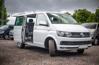 USED 2018 68 VOLKSWAGEN TRANSPORTER T32 TDI KOMBI SWB HIGHLINE DSG (AUTO) 150 BLUEMOTION EURO 6 Comfort Dashboard, Sat Nav (Discovery media unit), Front and Rear parking sensors, Reversing Camera, Electric Folding Mirrors, Cab Carpet, Twin Side loading doors -, Heated front seats, Single front seats with armrests and lumbar support, 2 +1 split rear seats (for versatility and easy removal) +