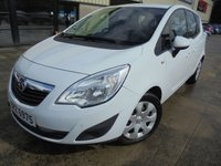 USED 2012 VAUXHALL MERIVA 1.4 EXCLUSIV 5d 98 BHP Great Value MPV, Finance Available, No Deposit Necessary