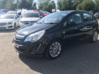 USED 2012 12 VAUXHALL CORSA 1.4 SE 5d AUTO 98 BHP IN METALLIC BLACK WITH 36,000 MILES AND A FULL SERVICE HISTORY! APPROVED CARS AND FINANCE ARE PLEASED TO OFFER THIS VAUXHALL CORSA 1.4 SE 5 DOOR AUTOMATIC 98 BHP IN METALLIC BLACK WITH 36,000 MILES AND A FULL SERVICE HISTORY. THIS VEHICLE HAS A GREAT SPEC SUCH AS BLUETOOTH, AUX, ALLOY WHEELS, ELECTRIC WINDOWS, FULLY AUTOMATIC GEARBOX AND MUCH MORE. THIS IS A PERFECT FIRST TIME DRIVER / LEARNER DRIVER DUE TO HOW EASY IT IS TO DRIVE AND ALSO EXTREMELY ECONOMICAL AND LOW ROAD TAX.