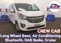 2016 VAUXHALL VIVARO 1.6 CDTi 2900 CREW CAB SPORTIVE Long Wheel Base with Air Conditioning, Bluetooth, Cruise Control, Rear Parking Sensors and more £12680.00