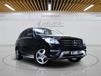 """USED 2013 13 MERCEDES-BENZ M CLASS 3.0 ML350 BLUETEC SPORT 5d AUTO 258 BHP**NO ULEZ CHARGE ON THIS VEHICLE** SATNAV   LEATHERS   19"""" ALLOYS   FULL MERCEDES SERVICE HISTORY"""