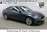 """USED 2016 16 BMW 4 SERIES GRAN COUPE 2.0 420I SE GRAN COUPE 4d AUTO 181 BHP Finished in stunning Mineral Grey Metallic with black Full Leather, 18"""" Alloy Wheels, Parking Sensors, 1 Owner and Full BMW Service History. Sat Nav, Bluetooth, Stop/Start, Multi Function Wheel, Air Con and Climate Control"""