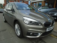 USED 2014 64 BMW 2 SERIES 2.0 218D LUXURY ACTIVE TOURER 5d 148 BHP ULEZ EXEMPT SAT NAV, DAB, REAR CAMERA