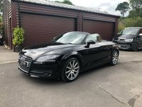 USED 2008 58 AUDI TT Roadster 2.0 TFSI 2d Auto 200bhp Black with Black Leather Finance arranged with low deposit HP and PCP plans.