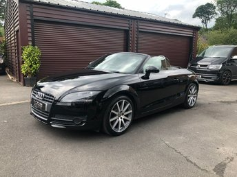 2008 AUDI TT Roadster 2.0 TFSI 2d Auto 200bhp Black with Black Leather £7950.00