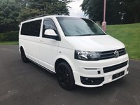 USED 2014 14 VOLKSWAGEN TRANSPORTER 2.0 T32 TDI KOMBI HIGHLINE 1d 178 BHP NO VAT Superb Example of the Ultra Reliable VW Transporter Highline with 180BHP 8 Seat Version with Professionally Fitted Rear Seats Upgraded Sportline Front Bumper with Integrated LED Daytime Running Lights, Side Tubes, Rear Spoiler and 18 Inch Gloss Black Sportline Alloy Wheels. Seat Covers have been used Throughout Leaving Pristine Seats Underneath. This Fantastic Multi Purpose Vehicle also comes with Satellite Navigation, Bluetooth Connectivity, Drop Down DVD Screen for Rear Passengers, Fron