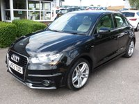 USED 2013 63 AUDI A1 1.4 SPORTBACK TFSI S LINE 5d AUTO 122 BHP Low mileage  34k FASH, Finished in Phantom Black pearl, with Nappa Leather seats, armrest, Bluetooth, Parking sensors, Satellite Navigation. £125 RFL