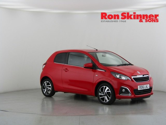 View our 2016 16 PEUGEOT 108 1.2 PURETECH ALLURE 3d 82 BHP