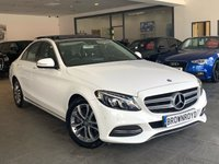 USED 2015 15 MERCEDES-BENZ C CLASS 2.1 C220 BLUETEC SPORT PREMIUM PLUS 4d AUTO 170 BHP PAN ROOF+REV CAM+MEGA SPEC