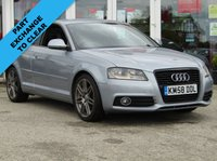 USED 2008 58 AUDI A3 2.0 TDI S LINE 3d 138 BHP FINANCE OR CREDIT CARDS NOT ACCEPTED