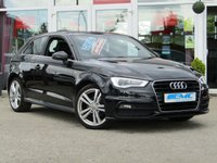 USED 2014 64 AUDI A3 2.0 TDI S LINE 3d AUTO 148 BHP STUNNING, £30 ROAD TAX, AUDI A3 2.0 TDI S/LINE AUTO, 150 BHP. Finished in PHANTOM BLACK PEARL with Ebony Part LEATHER trim. This fantastic facelift model combines a great interior with a refined driving experience. Features include Sat Nav, DAB radio, Rear Park Sensors, B/Tooth, Cruise Control, Part Leather, only £30 Road Tax and much more. Dealer serviced at 4858 miles, 39982 miles and at 58847 miles (inc Cam Belt and Water Pump).