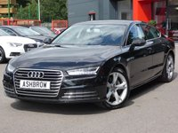 USED 2015 65 AUDI A7 SPORTBACK 3.0 TDI QUATTRO SE EXECUTIVE 5d AUTO 215 S/S MYTHOS BLACK METALLIC, UPGRADE PARKING PACK (PARK ASSIST SELF STEERING W/ SIDE SENSORS + REAR VIEW CAMERA), SAT NAV, DAB, CRUISE, LED HEADLIGHTS W/ DRL, LED TAIL LIGHTS, DAB, BLUETOOTH W/ AUDIO STREAMING, AUDI DRIVE SELECT, ELEC MEMORY DRIVER'S SEAT, 4 ZONE CLIMATE A/C, AUDI MUSIC INTERFACE, 19 IN Y DESIGN 5 SPOKE ALLOYS, AUTO HOLD, ELECTRIC TAILGATE, TYRE PRESSURE MONITORING SYSTEM, SP SAVING SPARE WHEEL, FRONT + REAR MUD FLAPS, AUTO LIGHTS + WIPERS, COLOUR DIS W/ DIGI SPEED DISPLAY, VAT Q.