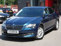 USED 2015 65 SKODA SUPERB 2.0 TDI SE BUSINESS 5d 150 S/S UPGRADE ELECTRIC TAILGATE, SAT NAV, LEATHER ALCANTARA UPHOLSTERY, FRONT & REAR PARKING SENSORS WITH DISPLAY, DAB RADIO, BLUETOOTH PHONE & MUSIC STREAMING, ADAPTIVE CRUISE CONTROL WITH FRONT ASSIST, AUTO HILL HOLD, AUX & USB INPUTS, LIGHT & RAIN SENSORS, ELECTRIC HEATED FOLDING DOOR MIRRORS, ELECTRIC DRIVER SEAT WITH MEMORY, 17 INCH 10 SPOKE ALLOYS, TINTED GLASS, SPORT STYLE SEATS, LEATHER MULTIFUNCTION STEERING WHEEL, DUAL CLIMATE AIR CON, DRIVING MODE SELECT, 1 OWNER FROM NEW, SERVICE HISTORY