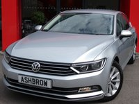 USED 2015 15 VOLKSWAGEN PASSAT 2.0 TDI SE BUSINESS BLUEMOTION TECH 4d 150 S/S FULL SERVICE HISTORY, £20 ROAD TAX, SAT NAV, FRONT & REAR PARKING SENSORS WITH DISPLAY (PARK PILOT), DAB RADIO, BLUETOOTH PHONE & MUSIC STREAMING, ADAPTIVE CRUISE CONTROL WITH FRONT ASSIST, 17 INCH 10 SPOKE ALLOYS, TINTED GLASS, GREY CLOTH INTERIOR, LEATHER FLAT BOTTOM MULTIFUNCTION STEERING WHEEL, ELECTRIC HEATED FOLDING MIRRORS, LIGHT & RAIN SENSORS, KEYLESS START, AIR CONDITIONING, AUTO HILL HOLD, DRIVING MODE SELECT, AUX & USB INPUTS, CD PLAYER WITH 2x SD CARD READERS, VAT Q
