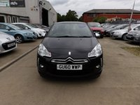 USED 2010 60 CITROEN DS3 1.6 HDI BLACK AND WHITE 3d 90 BHP (1 OWNER + DEALER HISTORY) NEW MOT, SERVICE & WARRANTY