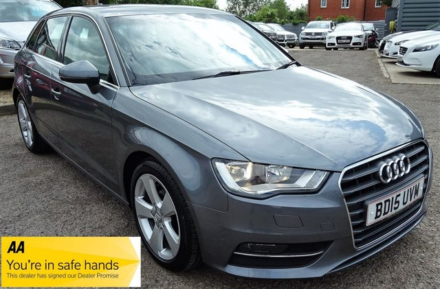 USED 2015 15 AUDI A3 1.6 TDI SPORT 5d 109 BHP ONE OWNER FROM NEW  £1280 FACTORY OPTIONS JUST BEEN SERVICED BY US