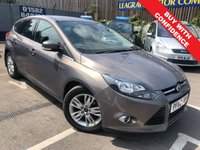 USED 2014 63 FORD FOCUS 1.6 TITANIUM NAVIGATOR 5d AUTO 124 BHP AUTOMATIC + SAT NAV + PARKING SENSORS
