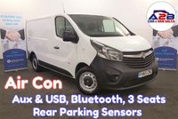 2016 VAUXHALL VIVARO 1.6 CDTi 2900 with Air Conditioning, Bluetooth, Rear Parking Sensors, Electric Windows and more £7980.00