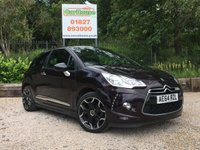 USED 2014 64 CITROEN DS3 CABRIO 1.6 E-HDI AIRDREAM DSTYLE PLUS 3dr Cruise, PDC, 1 Owner, £0 Tax!