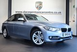"""USED 2015 15 BMW 3 SERIES 2.0 320D SPORT 4DR AUTO 184 BHP full service history * NO ADMIN FEES * FINISHED IN STUNNING LIQUID METALLIC BLUE WITH ANTHRACITE UPHOLSTERY + FULL SERVICE HISTORY + BLUETOOTH + CRUISE CONTROL + LIGHT PACKAGE + DAB RADIO + RAIN SENSORS + SPORT SEATS + PARKING SENSORS + 17"""" ALLOY WHEELS"""