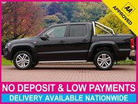 "USED 2014 14 VOLKSWAGEN AMAROK 2.0 BiTDI HIGHLINE AUTOMATIC 4MOTION SPORT TONNEAU LEATHER SATELLITE NAVIGATION 19"" ALLOYS CLIMATE TONNEAU"