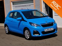 USED 2015 65 PEUGEOT 108 1.0 ACTIVE 3d 68 BHP 1 Owner, 4 Service Stamps, Bluetooth, Air Con