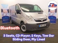 2014 VAUXHALL VIVARO 2.0 CDTi 2700 in SIlver with Bluetooth, CD Player, 3 Seats, Full Service History, Remote Central Locking, Sliding Door and Ply Lining £6980.00