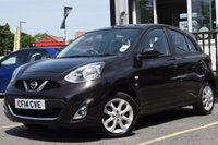USED 2014 14 NISSAN MICRA 1.2 ACENTA 5d 79 BHP Full Service History With 5 Stamps & New Mot
