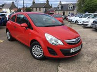 USED 2012 12 VAUXHALL CORSA 1.0 S ECOFLEX 3d 64 BHP Low mileage low road tax low insurance