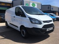 USED 2015 15 FORD TRANSIT CUSTOM 2.2 290 L2 H1 1d 99 BHP FULL FORD SERVICE HISTORY, LWB, 6 MONTHS WARRANTY & FINANCE ARRANGED. Full Ford Service history (5 Services - Last @ 66,961 on 27/03/2019), Bluetooth, E/W, Radio, Drivers airbag, Factory fitted bulk head, side loading door, ply lined, Very Good Condition, 1 Owner, remote Central Locking, Drivers Airbag, Steering Column Radio Control, Barn Rear Doors, spare key, finance arranged on site & 6 months premium Autoguard warranty