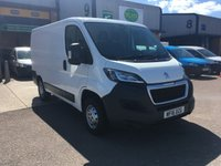 USED 2016 16 PEUGEOT BOXER 2.2 HDI 333 L1H1 PROFESSIONAL P/V 1d 110 BHP FSH, SATNAV, A/C, BLUETOOTH, E/W, FINANCE ARRANGED & 6 MONTHS WARRANTY. Full Service History, A/C, E/W, Bluetooth, parking sensors, 3 seats, SATNAV, Radio/CD, cruise control, driver's airbag, factory fitted bulk head, Side loading door, Ply-lined, Very Good Condition, 1 Owner, remote Central Locking, Drivers Airbag, DAB Radio, Steering Column Radio Control, Side Loading Door, Wood Lined, Barn Rear Doors, spare key, finance arranged on site & 6 months premium Autoguard warranty