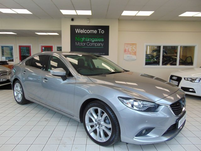 USED 2014 64 MAZDA 6 2.2 D SPORT NAV 4d 173 BHP FULL MAIN DEALER SERVICE HISTORY + FULL MOT + SAT NAVIGATION + BLUETOOTH + CRUISE CONTROL + CLIMATE CONTROL + ALLOYS + PRIVACY GLASS + FRONT AND REAR PARK SENSORS + LOW CAR TAX (£20)