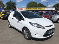 USED 2012 62 FORD FIESTA 1.4 1.4 TDCI 3 DOOR 69 BHP IN WHITE 94000 MILES FULL SERVICE HISTORY 1 OWNER IMMACULATE CONDITION NO VAT. APPROVED CARS AND FINANCE ARE PLEASED TO OFFER THIS FORD FIESTA 1.4 1.4 TDCI 3 DOOR 69 BHP IN WHITE. GREAT SPEC ON THIS VAN INCLUDING ABS,POWER STEERING,CLIMATE CONTROL,MULTI FUNCTION STEERING WHEEL,ALLOY WHEELS AND MUCH MORE INCLUDING A FULL SERVICE HISTORY AT 12K,25K,37K,62K,75K,87K,95K MILES.(NO VAT NO VAT)AS YOU CAN SEE ALREADY WE HAVE PRICED THIS VAN TO SELL QUICKLY SO DON'T DELAY CALL 01622-871-555 TODAY AND BOOK YOUR TEST DRIVE.