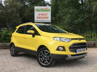 USED 2016 16 FORD ECOSPORT 1.0 TITANIUM 5dr FFSH, 1 Owner, 1/2 Leather