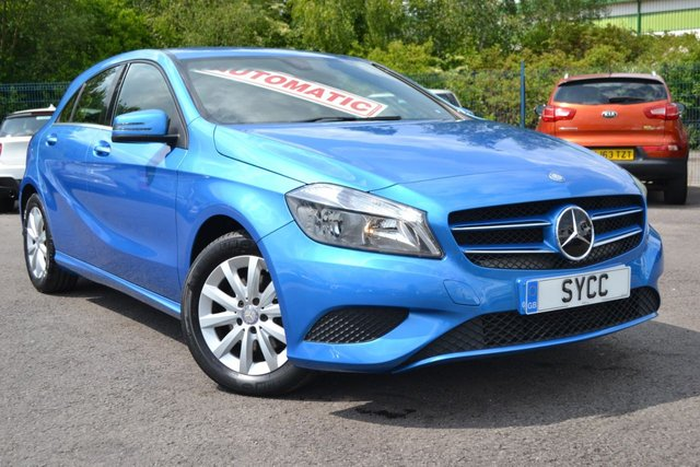 USED 2015 15 MERCEDES-BENZ A CLASS 1.6 A180 BLUEEFFICIENCY SE 5d AUTO 122 BHP ~ SOUTH SEA BLUE SOUTH SEA BLUE METALLIC ~ 6 MONTHS WARRANTY ~ NATIONWIDE DELIVERY