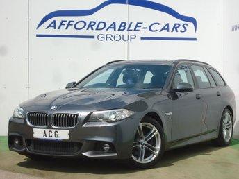 2016 BMW 5 SERIES 2.0 520D M SPORT TOURING 5d AUTO 188 BHP £13950.00