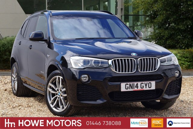 2014 14 BMW X3 3.0 XDRIVE30D M SPORT 5d AUTO 255 BHP NAVIGATION PANORAMIC SUNROOF FULL HEATED LEATHER 19