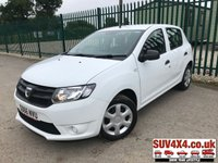 USED 2016 66 DACIA SANDERO 1.1 AMBIANCE 5d 73 BHP LOW MILEAGE. WHITE WITH BLACK CLOTH TRIM. COLOUR CODED TRIMS. BLUETOOTH PREP. R/CD PLAYER WITH AUX. SERVICE HISTORY. MOT 06/20. SUV & 4X4 CAR CENTRE LS23 7FR. TEL 01937 849492 OPTION 2.