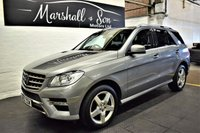 2012 MERCEDES-BENZ M-CLASS 2.1L ML250 BLUETEC SPORT 5d AUTO 204 BHP £17799.00