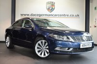 """USED 2014 14 VOLKSWAGEN CC 2.0 GT TDI BLUEMOTION TECHNOLOGY DSG 4DR AUTO 175 BHP full service history  * NO ADMIN FEES * FINISHED IN STUNNING BLUE WITH FULL BLACK LEATHER INTERIOR + FULL SERVICE HISTORY + SATELLITE NAVIGATION + BLUETOOTH + DAB + HEATED SEATS + CRUISE CONTROL + HEATED MIRRORS + PARKING SENSORS + 18"""" ALLOY WHEELS"""