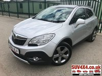USED 2013 63 VAUXHALL MOKKA 1.7 SE CDTI S/S 5d 128 BHP ALLOYS CRUISE PRIVACY LEATHER STOP/START. STUNNING SILVER MET WITH FULL BLACK LEATHER TRIM. HEATED SEATS. HEATED STEERING. CRUISE CONTROL. 18 INCH ALLOYS. CRUISE CONTROL. COLOUR CODED TRIMS. PRIVACY GLASS. PARKING SENSORS. BLUETOOTH PREP. CLIMATE CONTROL. R/CD PLAYER. 6 SPEED MANUAL. MFSW. MOT 06/20. SERVICE HISTORY. SUV 4X4 CAR CENTRE. - LS23 7FR. TEL 01937 849492 OPTION 2