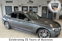 """USED 2016 65 BMW 3 SERIES 2.0 320D M SPORT 4d AUTO 188 BHP FINISHED IN STUNNING MINERAL GREY METALLIC WITH FULL LEATHER SPORTS SEATS + BMW SERVICE HISTORY + SATELLITE NAVIGATION + DAB RADIO + HEATED FRONT SEATS + BLUETOOTH + AUTOMATIC AIR CONDITIONING + CRUISE CONTROL + PARKING SENSORS + LIGHT PACKAGE + M SPORTS PACKAGE + 19"""" ALLOY WHEELS"""