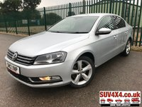 USED 2012 12 VOLKSWAGEN PASSAT 2.0 SE TDI BLUEMOTION TECHNOLOGY 4d 139 BHP STUNNING SILVER MET WITH BLACK CLOTH TRIM. 17 INCH ALLOYS. CRUISE CONTROL. COLOUR CODED TRIMS. PRIVACY GLASS. BLUETOOTH PREP. AIR CON. R/CD PLAYER. 6 SPEED MANUAL. MFSW. MOT 06/20. SERVICE HISTORY. SUV4X4 USED CAR CENTRE LS23 7FR TEL 01937 849492 OPTION 1