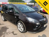 USED 2015 15 VAUXHALL ZAFIRA TOURER 2.0 SRI CDTI 5d 128 BHP IN METALLIC BROWN WITH 75,000 MILES AND A FULL SERVICE HISTORY! APPROVED CARS AND FINANCE ARE PLEASED TO OFFER THIS VAUXHALL ZAFIRA TOURER 2.0 SRI CDTI 5 DOOR 128 BHP IN METALLIC BROWN WITH 75,000 MILES AND A FULL SERVICE HISTORY AT 17K, 28K, 33K, 51K, 65K, AND 72K. THIS VEHICLE HAS A GREAT SPEC SUCH AS BLUETOOTH, AIR CON, CLIMATE CONTROL, ALLOY WHEELS, 7 SEATS, MANUAL GEARBOX AND MUCH MORE. THIS IS THE PERFECT FAMILY 7 SEATS AND DUE TO THE ENGINE SIZE THIS VEHICLE IS EXTREMELY ECONOMICAL, NOT A VEHICLE TO BE MISSED.