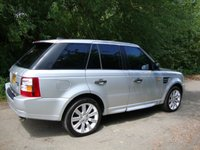 USED 2005 LAND ROVER RANGE ROVER SPORT 2.7 TDV6 HSE 5d AUTO 188 BHP Range Rover Sport 2.7tdv6, HSE Auto in Silver with black leather interior